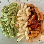 Rigatoni Tricolore with some of our favorite fresh homemade sauceshellip
